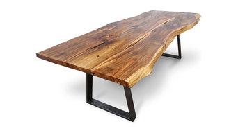 bespoke live-edge Walnut 8-seater dining table