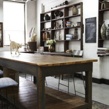 Industrial meets vintagey, shabby, greenhousey chic