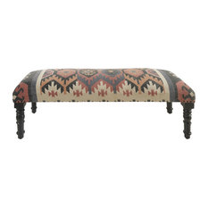Colorful Southwestern Indoor Bench