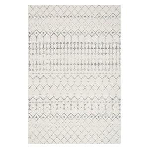 Moroccan Blythe Contemporary Area Rug, Gray, 12'x15'