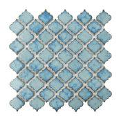 "SomerTile 12.38""x12.5"" Hudson Tangier Porcelain Mosaic Floor and Wall Tile"