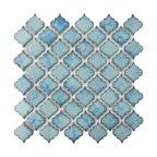 "12.38""x12.5"" Antaeus Porcelain Mosaic Floor/Wall Tile, Marine"