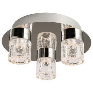 Imperial 3-Light LED Chrome Flush Ceiling Light IP44