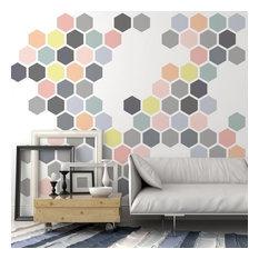 Honeycomb Allover Wall Stencil, Reusable Stencils For DIY Wall Decor