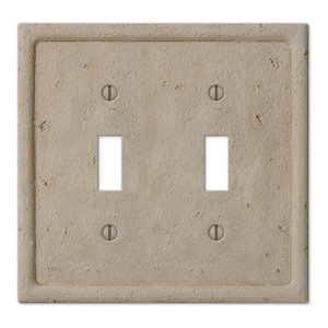 White Marble Meram Blanc Switch Plate Cover Toggle Duplex