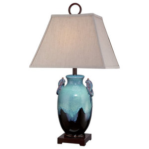 Decorative Table Lamp, Blue and Black