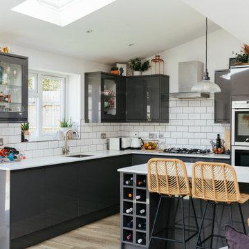 Modern Open Plan Kitchen Dinner Lounge