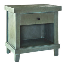 Bowery Hill One Drawer Nightstand In Green