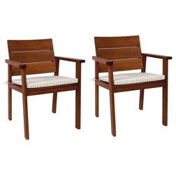 Transitional Outdoor Dining Chairs by International Home Miami Corp