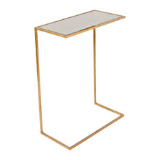 Sofa Tables That Slide Under Gold Side Tables and End Tables Houzz