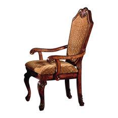 ACME Chateau De Ville Arm Chair in Cherry (Set of 2)
