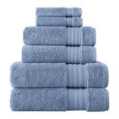 6-Piece Towel Set, Dusk Blue