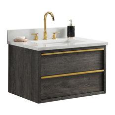 Hudson 30-inch Bathroom Vanity Charcoal Gray