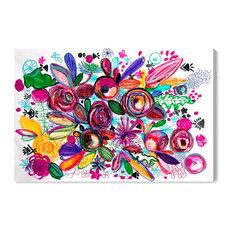 """Rosalina Happiness Garden"" Canvas Art Print, 150x100 Cm"
