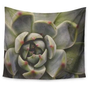 Kess InHouse Debbra Obertanec Desert Succulent Green Wall Tapestry 51 X 60