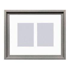Hoxton Duo Photo Frame, Grey, 36x31 cm