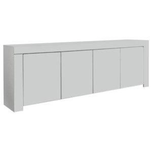 Amalia White High Gloss Sideboard, 210 cm