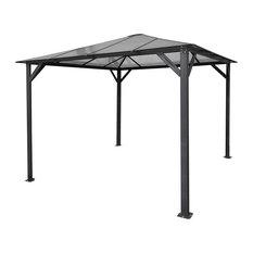 10'x10' Aluminum Hardtop Gazebo With Polycarbonate Roof Panels