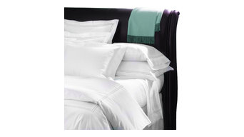 Sferra Grande Hotel Sheet Set, White/Aqua, Twin