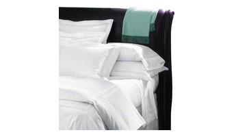 Sferra Grande Hotel Sheet Set, White/Aqua, Twin