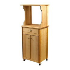 Pemberly Row Microwave Cart Oiled