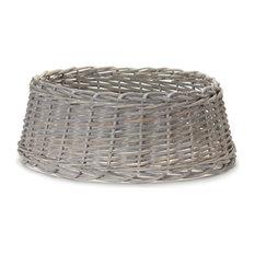 "Tree Stand Basket, Set of 2, 24""D x 9""H Rattan"