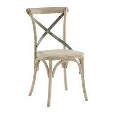 Pair Kasson French Country Paris Cafe Wood Metal Dining Chair   Dining  Chairs