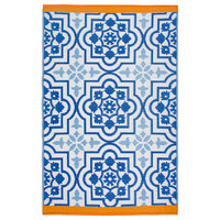 Puebla Area Rug, Blue, 6'x9'