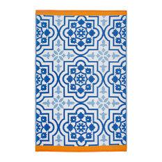 Puebla Area Rug, Blue, 6'x9'