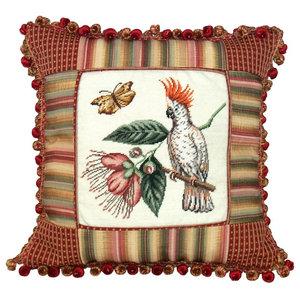 Throw Pillow Cockatoo Bird 16x16 Polyrayon
