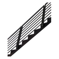Green Oxen   Epulum Railing For Stairs Modern Aluminum 5u0027 Railing, Black    Stair
