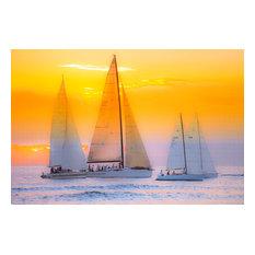 "Sail Into The Sun, Canvas Giclee, 18""x12"""