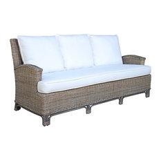 Pelican Reef - Panama Jack Exuma Sofa With Cushions in Kubu Gray - Outdoor Sofas