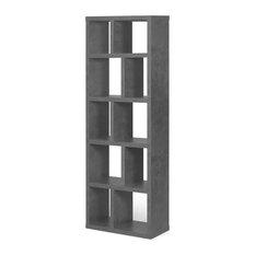 Berlin 5 Levels Bookcase, 70 cm., Concrete Look