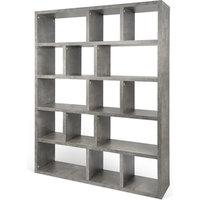 TemaHome Berlin 5 Level Bookcase 150 Cm, Concrete
