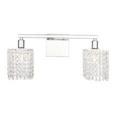 """Elegant Lighting LD7009 Phineas 2 Light 18""""W Bathroom Vanity - Chrome"""