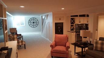 Elegant basement finish