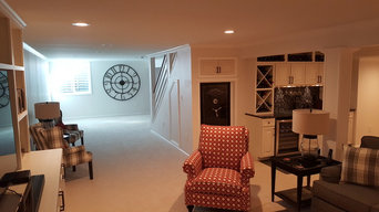 Elegant basement finish