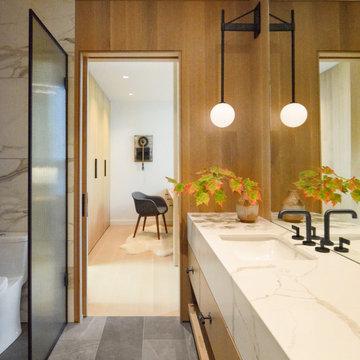 Modern Northwoods Residence Guest Bathroom