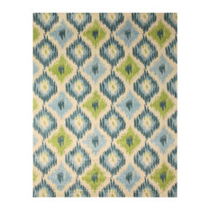 eorc tufted wool seagrass ikat rug ivory area