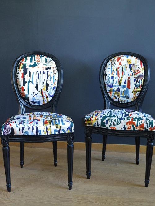 Ensemble De Deux Chaises Style Louis Xvi