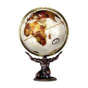 "Atlas 12"" Desktop Globe, Metallic Bronze With Statue Base"