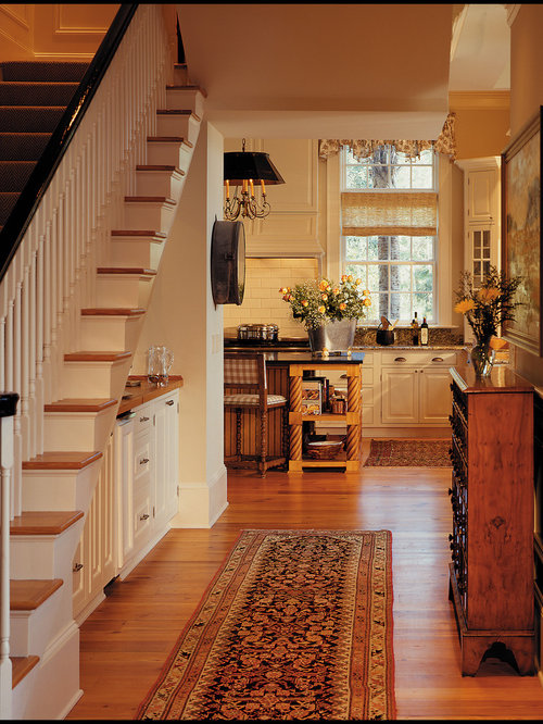 Bar under stairs houzz for House plans with stairs in kitchen