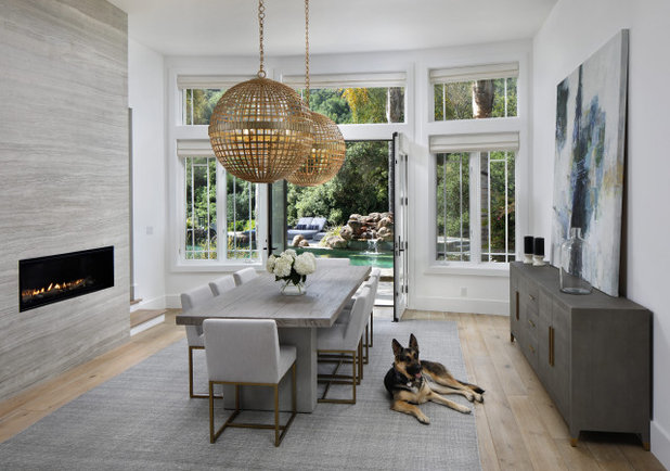 Transitional Dining Room by Chelsea Court Designs