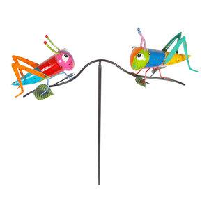 Painted & Enameled Metal Grasshoppers Balancer