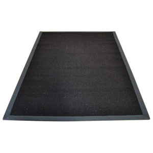 Sisal Rug, Black With Grey Border, 120x180 cm