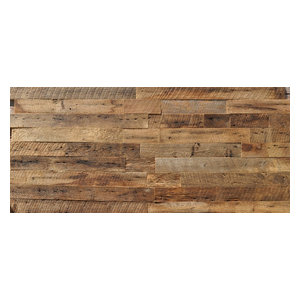 "Reclaimed Wood Wall Paneling, Brown, 3.5"" Wide, 20 sq. ft., Sealed"