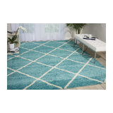 Brisbane 03 Aqua Rectangle Plain/Nearly Plain Rug 152x213cm