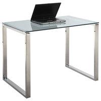39.27 in. Computer Desk Glass Top