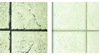 Tile before & after
